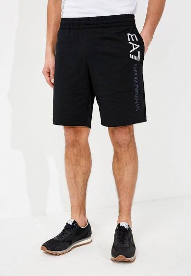 Купить Шорты спортивные EA7 - цвет: черный, Камбоджа, EA002EMZUG77