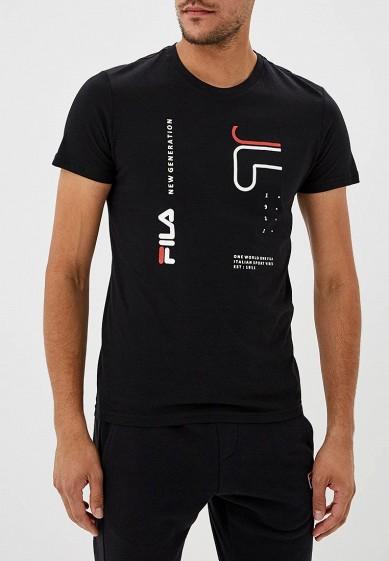 Купить Футболка спортивная Fila - цвет: черный, Бангладеш, FI030EMCPRD4