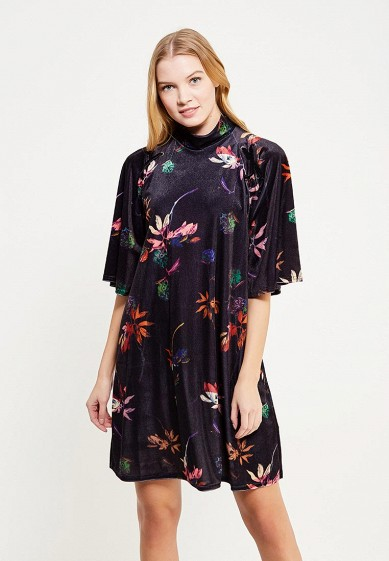 Платье LOST INK PLUS SWING DRESS IN VELVET FLORAL PRINT