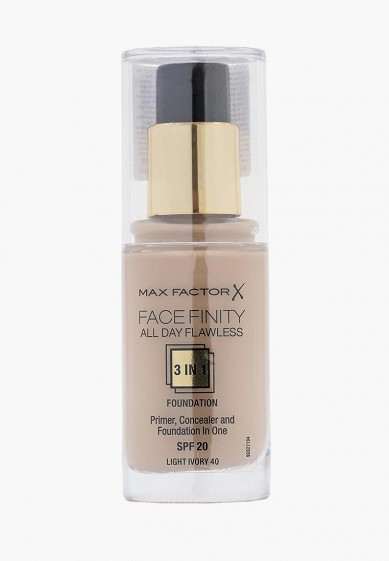 Тональное средство Max Factor Facefinity All Day Flawless 3-in-1 40 тон light ivory