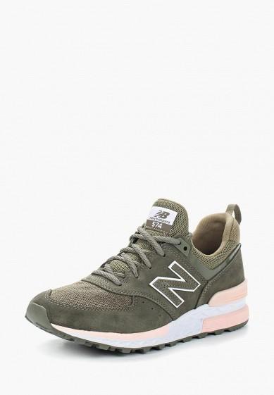 Купить Кроссовки New Balance - цвет: зеленый, Китай, NE007AWASIP7