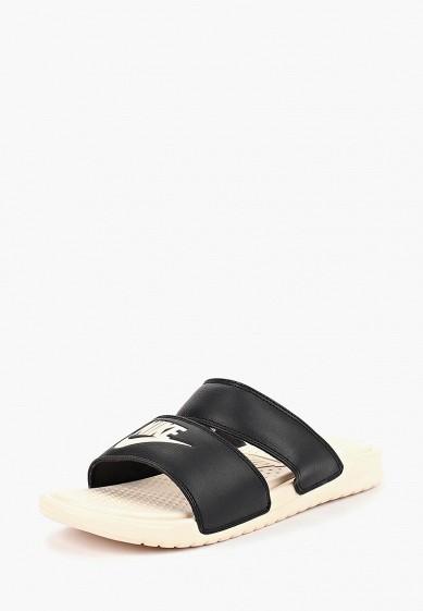 Сланцы Nike - цвет: черный, Индонезия, NI464AWBWRV8  - купить со скидкой
