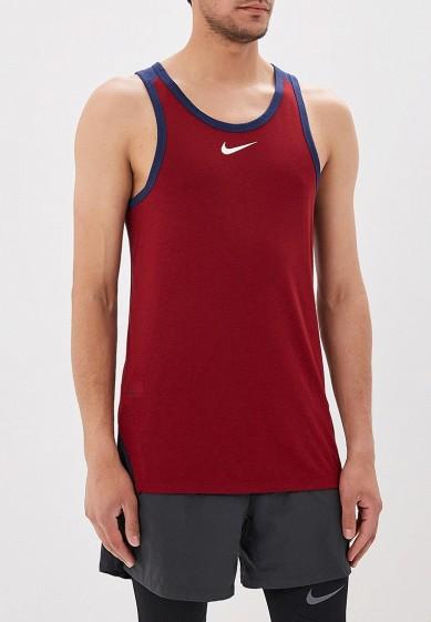 Купить Майка спортивная Nike - цвет: бордовый, Таиланд, NI464EMBBJI6