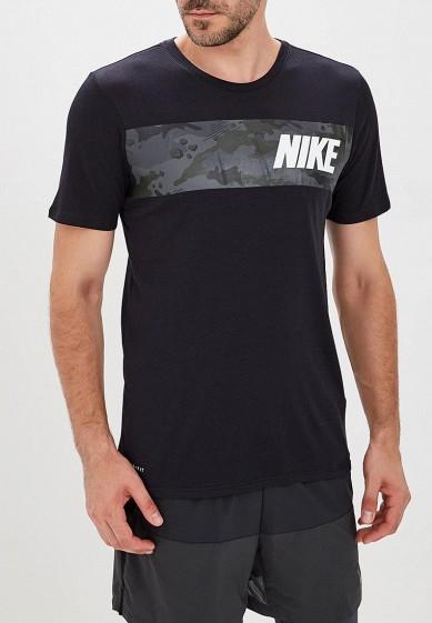 Купить Футболка спортивная Nike - цвет: черный, Малайзия, NI464EMBWHN4