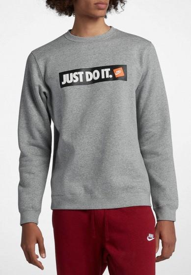 Свитшот Nike - цвет: серый, Камбоджа, NI464EMBWIB8  - купить со скидкой