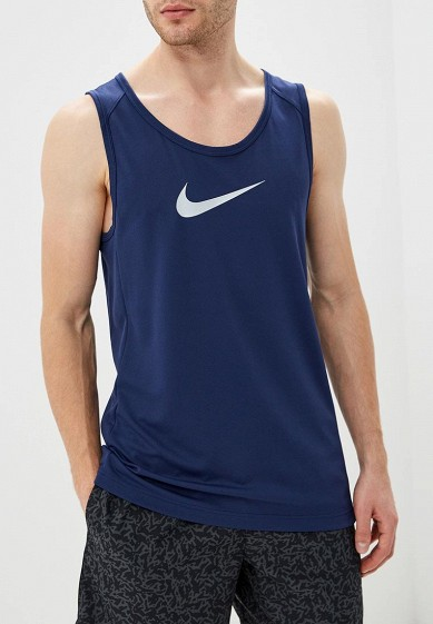 Купить Майка спортивная Nike - цвет: синий, Таиланд, NI464EMCMJS9
