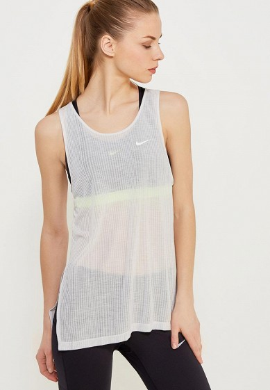 Купить Майка спортивная Nike - цвет: белый, Таиланд, NI464EWAAEM1