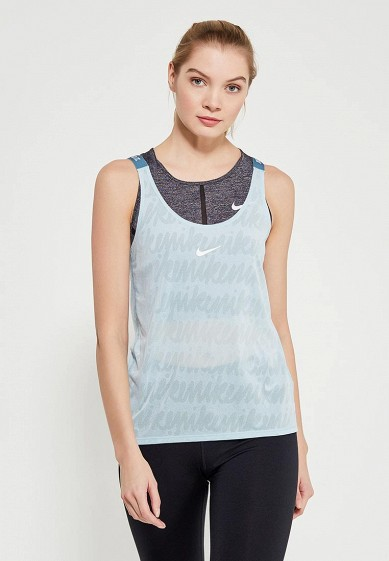 Купить Майка спортивная Nike - цвет: голубой, Таиланд, NI464EWAAFF3