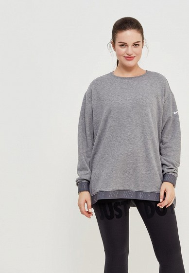 Свитшот Nike - цвет: серый, Китай, NI464EWAAGL1  - купить со скидкой