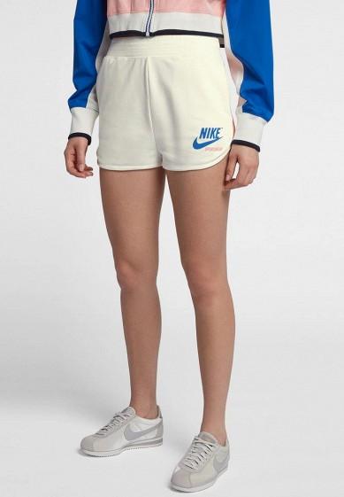 Купить Шорты спортивные Nike - цвет: белый, Вьетнам, NI464EWBBKU4