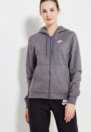 Купить Толстовка Nike - цвет: серый, Пакистан, NI464EWUGV95