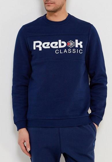 Купить Свитшот Reebok Classics - цвет: синий, Пакистан, RE005EMALIQ5