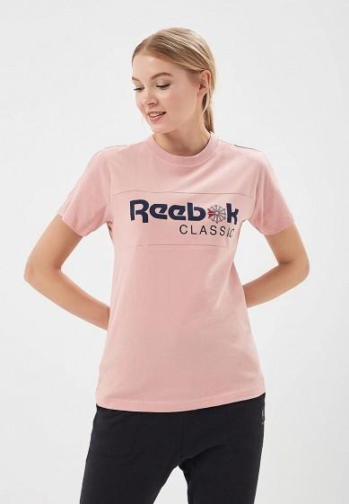 Купить Футболка Reebok Classics - цвет: розовый, Индия, RE005EWALJA3