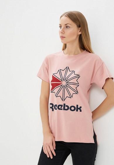 Купить Футболка Reebok Classics - цвет: розовый, Индия, RE005EWALJA4
