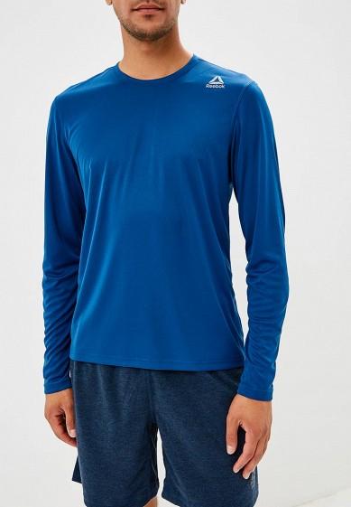 Купить Лонгслив спортивный Reebok - цвет: синий, Камбоджа, RE160EMCDMG5