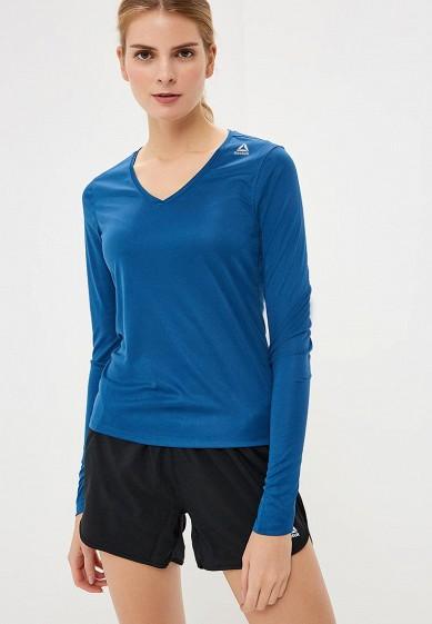 Купить Лонгслив спортивный Reebok - цвет: синий, Камбоджа, RE160EWCDNR2