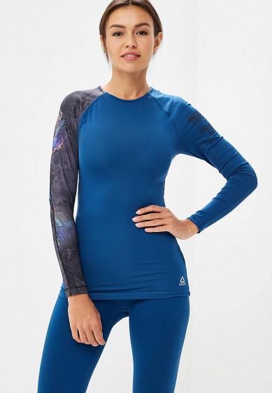Купить Лонгслив спортивный Reebok - цвет: синий, Камбоджа, RE160EWCDNR3