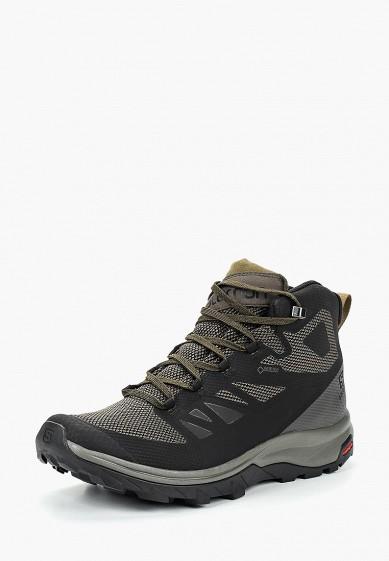 Купить Ботинки трекинговые Salomon - цвет: черный, Вьетнам, SA007AMBOIK6