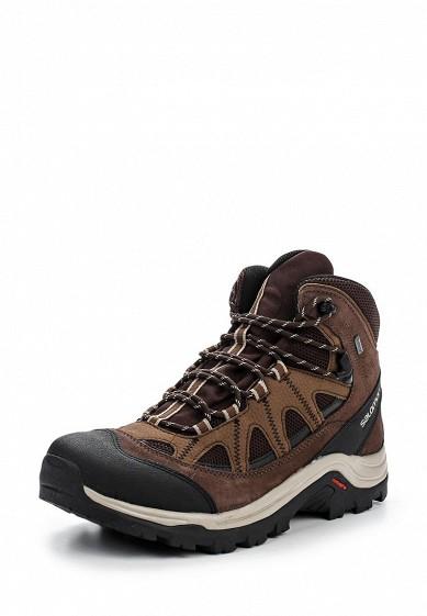 Купить Ботинки трекинговые Salomon - цвет: коричневый Вьетнам SA007AMPRW32