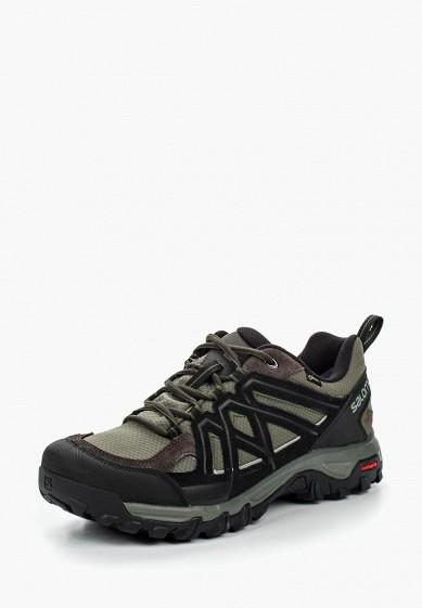 Купить Ботинки трекинговые Salomon - цвет: зеленый, Камбоджа, SA007AMPRW38