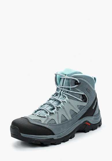 Ботинки трекинговые Salomon - цвет: синий, Вьетнам, SA007AWBOMK5  - купить со скидкой