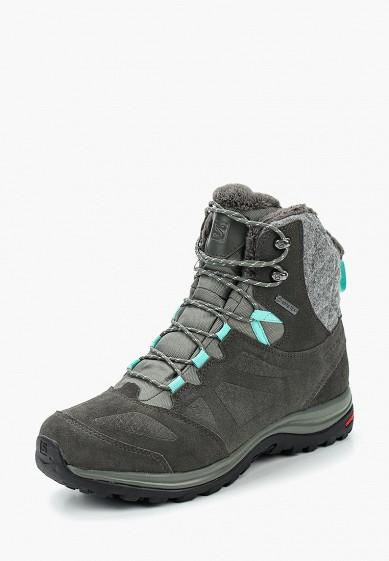 Купить Ботинки трекинговые Salomon - цвет: серый, Вьетнам, SA007AWUHK68