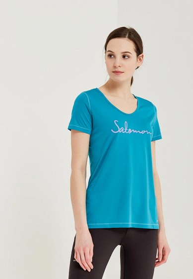 Купить Футболка спортивная Salomon - цвет: голубой, Таиланд, SA007EWZOS79