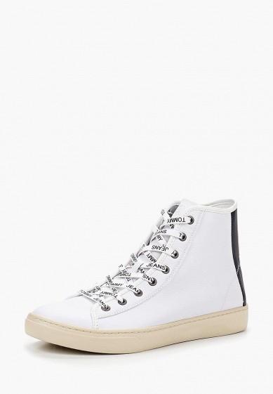 Кеды Tommy Jeans - цвет: белый, Вьетнам, TO052AMBHPU6  - купить со скидкой