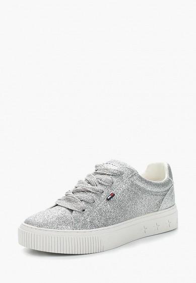 Купить Кеды Tommy Jeans - цвет: серебряный, Китай, TO052AWAGAR5