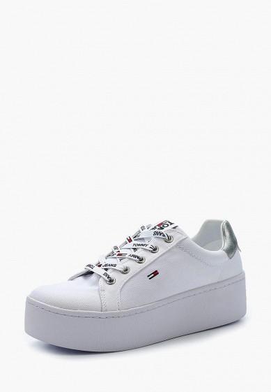 Купить Кеды Tommy Jeans - цвет: белый, Вьетнам, TO052AWAGAT1