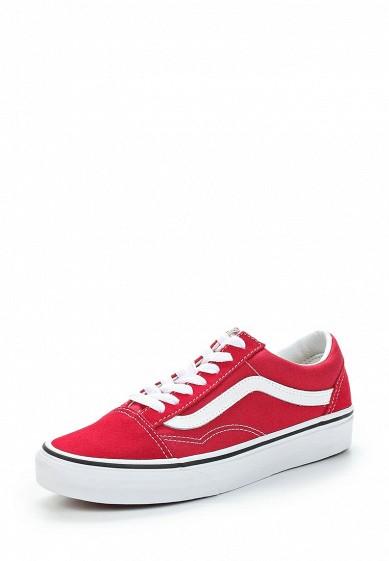 Купить Кеды Vans - цвет: красный Швейцария VA984AUAJYG4