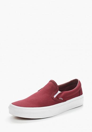 Купить Слипоны Vans - цвет: бордовый, Камбоджа, VA984AUAJYJ9
