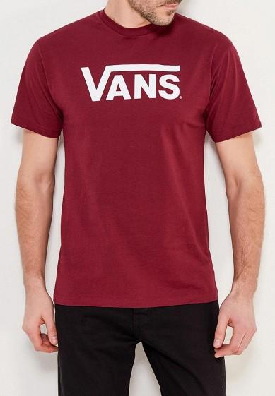 Купить Футболка Vans - цвет: бордовый, Турция, VA984EMAJXK3