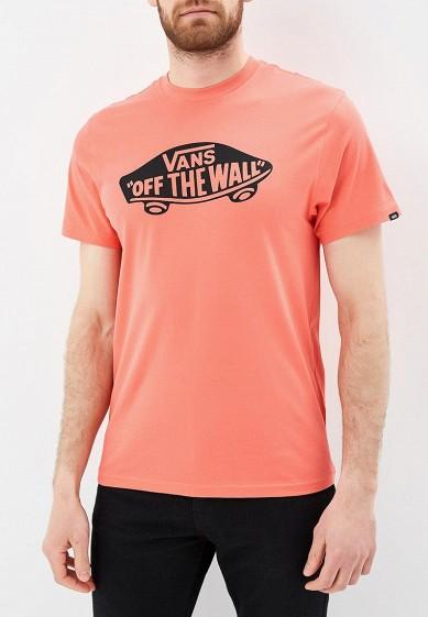 Купить Футболка Vans - цвет: коралловый, Грузия, VA984EMBMOJ6