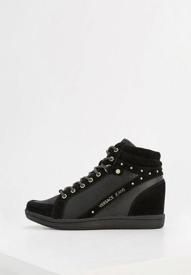 Купить Кеды на танкетке Versace Jeans - цвет: черный, Китай, VE006AWZIC27