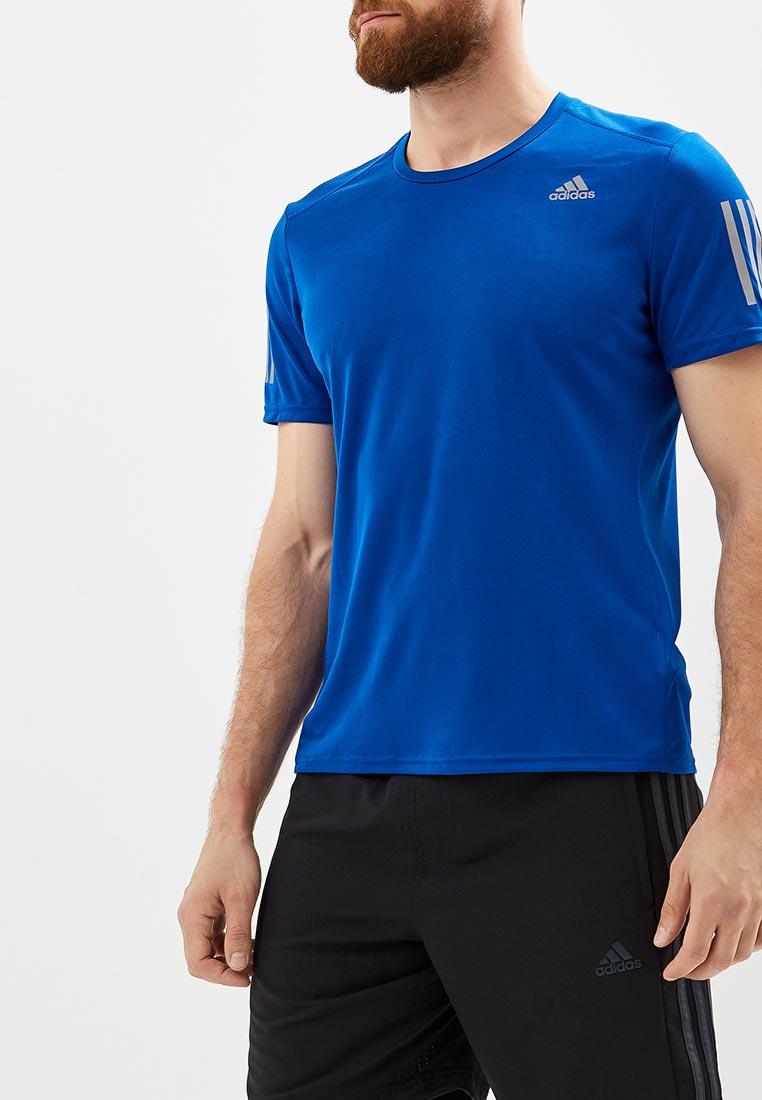 Купить Футболка спортивная adidas - цвет: синий, Индонезия, AD002EMCDFZ4