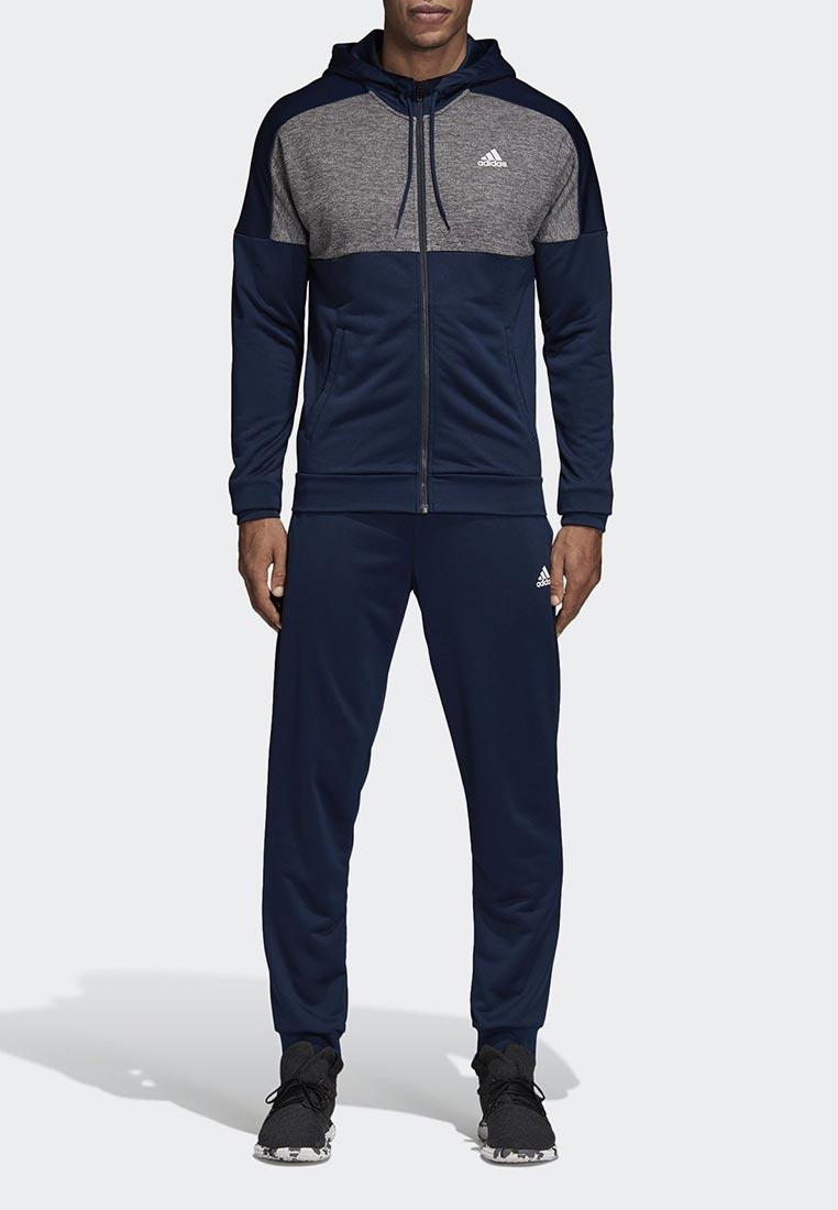 Костюм спортивный adidas - цвет: синий, Камбоджа, AD002EMCDHB6  - купить со скидкой