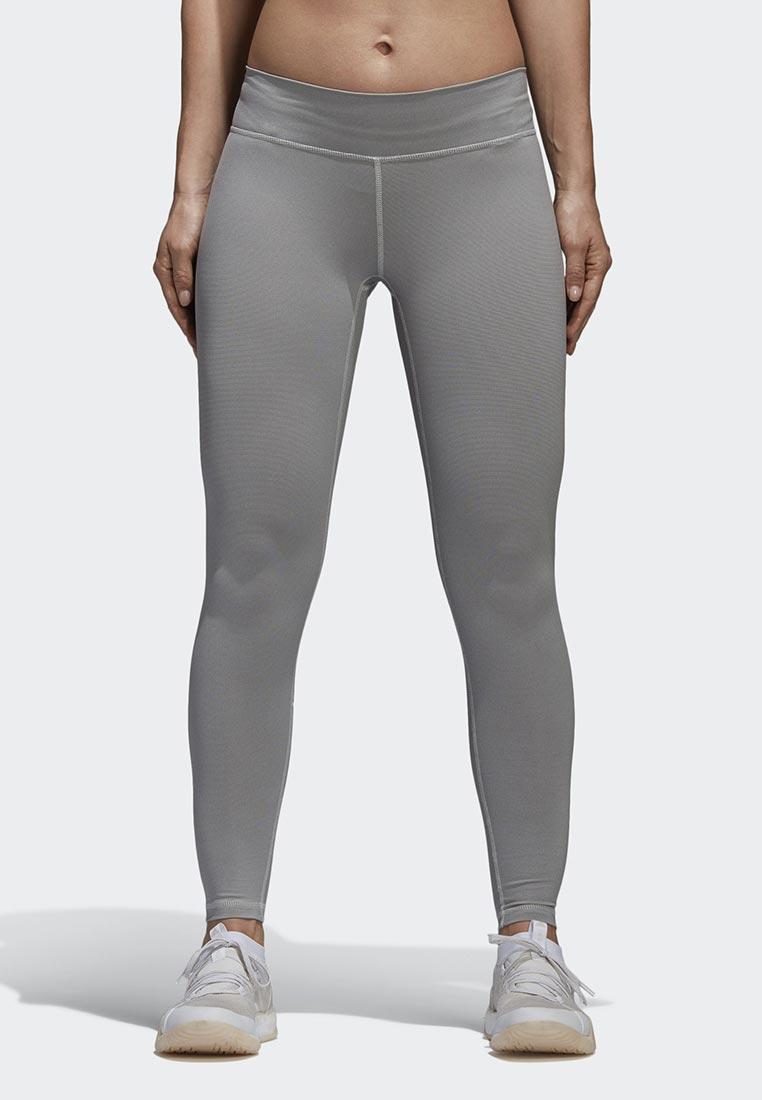 Купить Леггинсы adidas - цвет: серый, Индонезия, AD002EWAMCM0