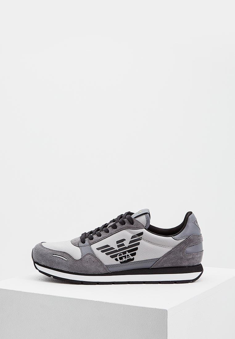 Кроссовки Emporio Armani - цвет: серый, Вьетнам, EM598AMZWB42  - купить со скидкой