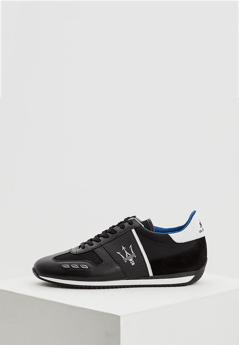 Кроссовки La Martina - цвет: черный, Италия, LA095AMAEXU5  - купить со скидкой