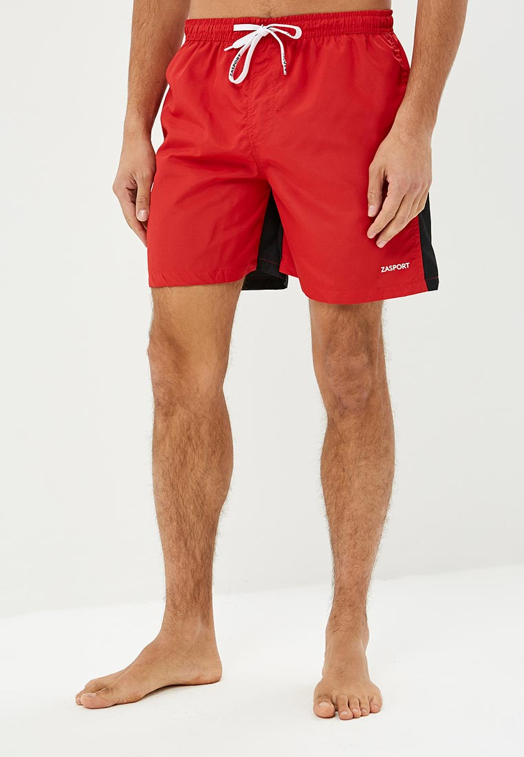 Шорты для плавания Zasport - цвет: красный, Китай, MP002XM240DO  - купить со скидкой