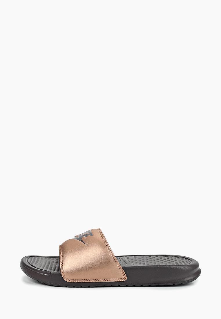 Сланцы Nike - цвет: золотой, Китай, NI464AWDNBY4  - купить со скидкой