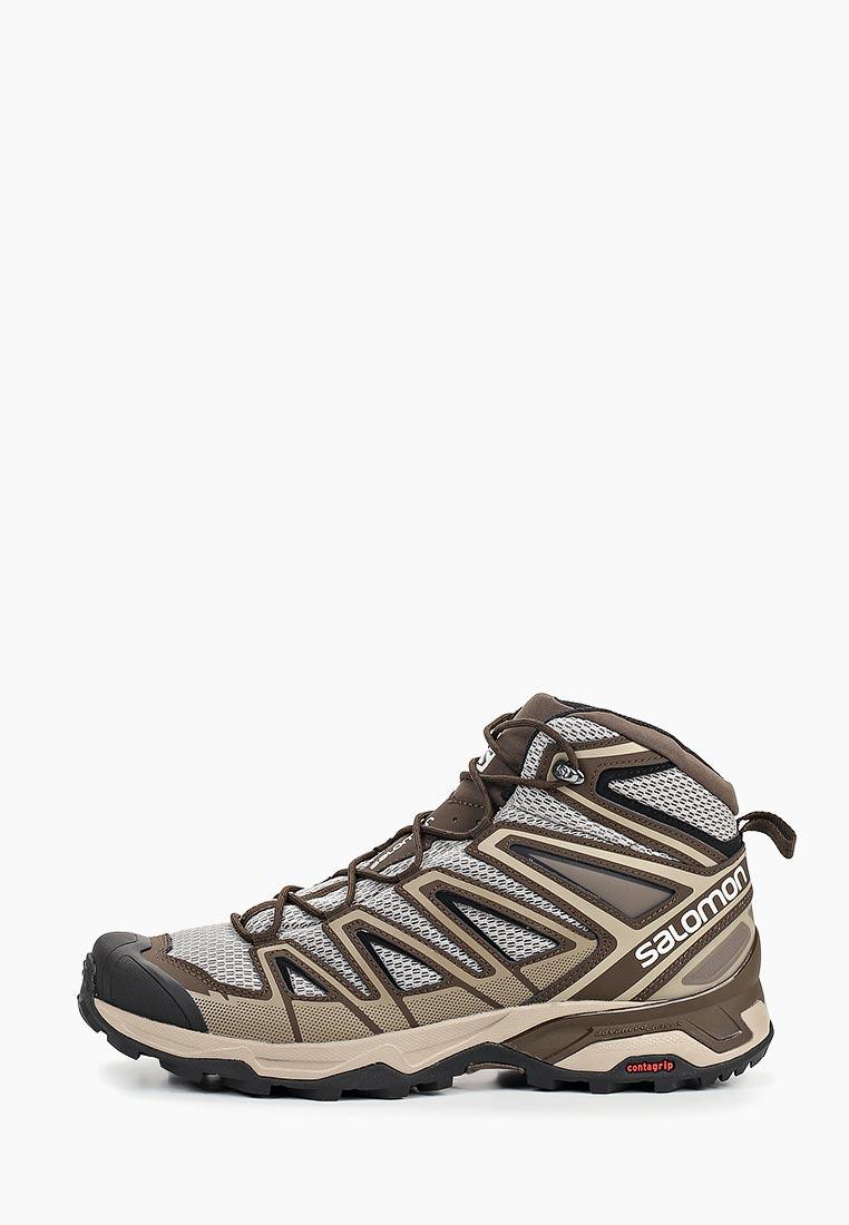 Купить Ботинки трекинговые Salomon - цвет: коричневый, Камбоджа, SA007AMDSNG5