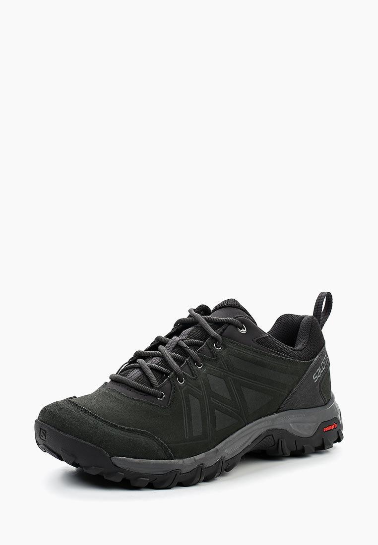 Ботинки трекинговые Salomon - цвет: черный, Камбоджа, SA007AMUHK48  - купить со скидкой
