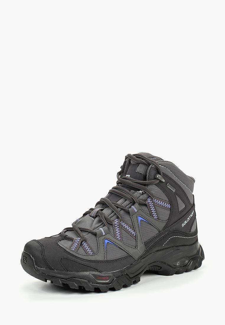 Купить Ботинки трекинговые Salomon - цвет: серый, Вьетнам, SA007AWDJQC5