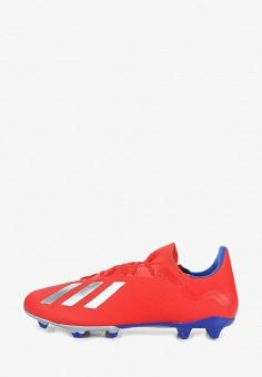 7f12d207 Бутсы, adidas, цвет: красный. Артикул: AD002AMEEFP0. Обувь / Кроссовки и