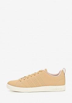 faf51446 Кеды, adidas, цвет: бежевый. Артикул: AD002AWEGRK6. Обувь / Кроссовки и