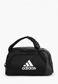 0b0a90d4a271 Сумка спортивная, adidas, цвет: черный. Артикул: AD002BUFKNQ1. Аксессуары /  Сумки