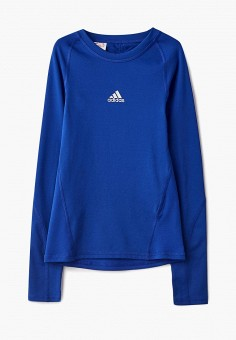 82a6f5adfdf6 Лонгслив спортивный, adidas, цвет  синий. Артикул  AD002EBCDAN4. Мальчикам    Одежда