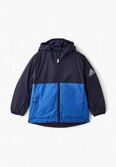 Куртка утепленная, adidas, цвет  синий. Артикул  AD002EBCDAQ0. Мальчикам    Одежда af8e136abf6